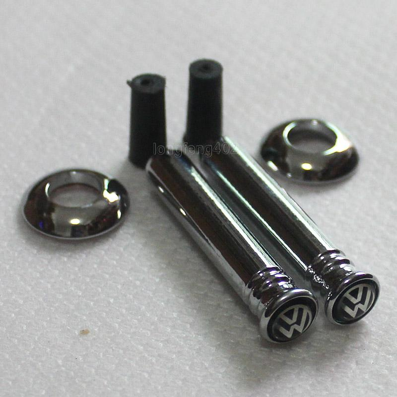 2x silver metal car door lock pins black badge emblem for vw volkswagen 014 ebay. Black Bedroom Furniture Sets. Home Design Ideas
